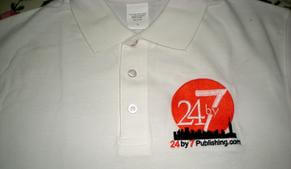 24by7publishing.com - top book publishers in India - T-shirt with logo 24by7 Publishing